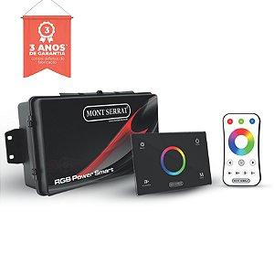 CENTRAL RGB POWER SMART PARA 10 SUPER LEDS 10W RGB - PAINEL TOUCH + CONTROLE