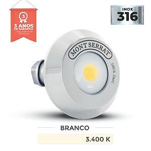 REFLETOR PARA PISCINA REDONDO MONO - 10 W  3.400K BRANCO