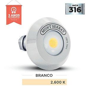 REFLETOR PARA PISCINA REDONDO MONO - 10 W  2.600K BRANCO