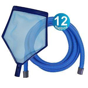 Kit Peneira + Mangueira 12 M - para piscinas infláveis