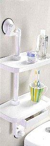 Prateleira com Sistema de Fixação Sem Furo - Multifuncional P Banheiro