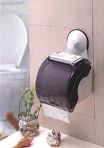 Suporte Papel Higienico com Sistema de Fixação Sem Furo