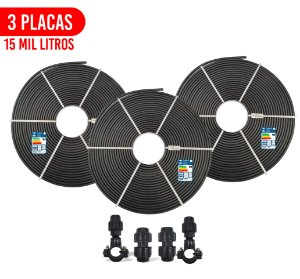 Kit 3 Placas - Aquecedor Solar Para Piscina - 15.000 L
