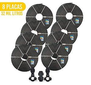 Kit 8 Placas - Aquecedor Solar Para Piscina - 32.000 L