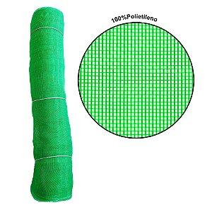 Tela Mosquiteiro Verde 50% Polietileno  1 x 50 metros lineares