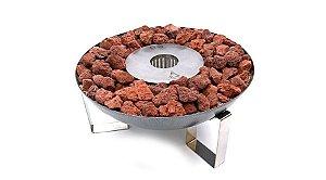 Tocha - 59 cm - Pedras vulcânicas