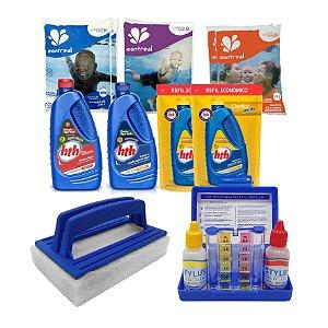Kit completo para limpeza Hth de todos modelos de  piscinas