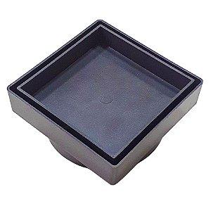 Ralo Oculto 10 x 10 Seca Agua e Piso - Cinza Escuro