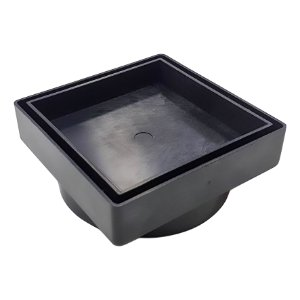 Ralo Oculto 10x 10 Seca Agua e Piso - Preto