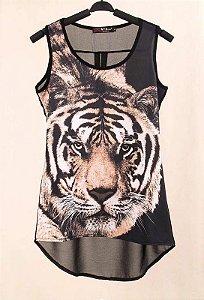 Blusa Leopard Chiffon