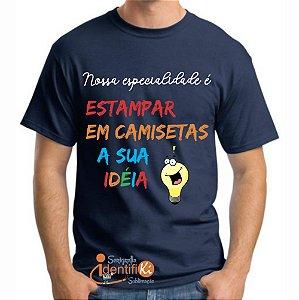 Camiseta Preta 100% Poliéster