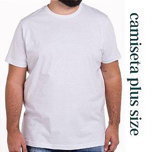 Camiseta PLUS SIZE Branca 100% Poliéster