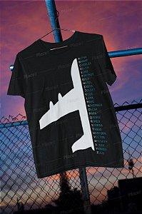 Camiseta Preta Alfabeto