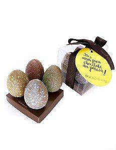 Caixa de Mini Ovos de Chocolate 4 unid.