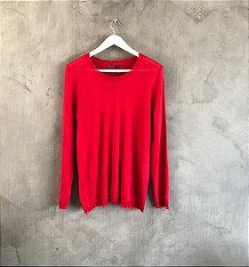 Blusa vermelha tricot trash (P) - Mixed