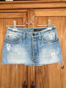 Mini saia jeans (36) - John John