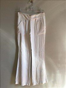 Calça pantalona branca com bolsos (36) - Animale