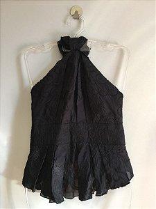 Blusa Frente única textura 100% seda (38) - Animale