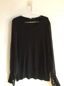 Blusa tricot e transparência (P) - Animale