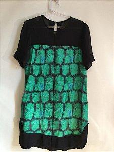 Vestido 100% seda verde (38) - Animale