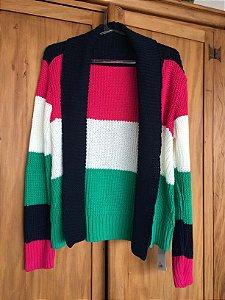 Casaco tricot cores (M) - Maria Barbosa NOVO