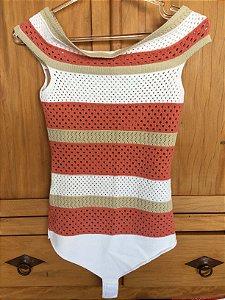 Body tricot ombro a ombro (M) - Maria A Tricot