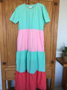 Vestido longo listras coloridos (M) - Quintess
