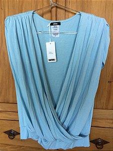 Blusa malha azul claro (G) - Danbi NOVA