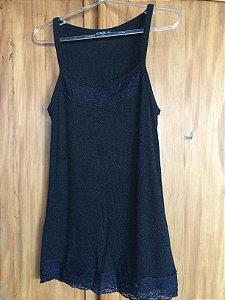 Camiseta canelada cinza (M) - Atroz