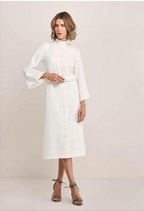 vestido (P rosa/ M off white) - Ma Lobo NOVO