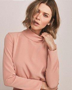 Blusa rosa gola alta (PP) Ma Lobo NOVA