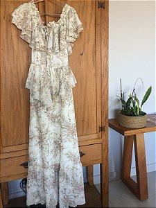 Vestido longo flores (P) - Skazi