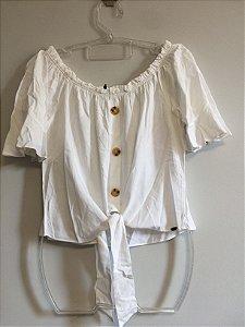 Blusa nozinho branca (M) - Polo Wear