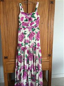 Vestido longo estampado (40) - Iorane NOVO