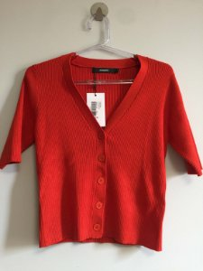 Blusa tricot vermelha (P) - Amaro NOVA