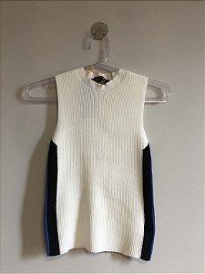 Regata tricot gola alta (P) - Maria Filó NOVA