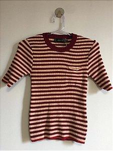Blusa tricot canelada (M) - Maria Filó
