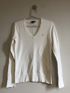 Blusa manga longa branca (P) - Tommy Hilfiger