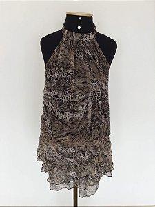 Vestido frente única (M) - Zara
