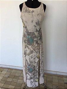 Vestido malha com fendas laterias (P) - F.Y.I