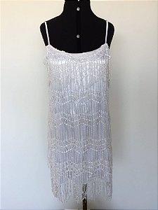 Vestido branco franjas (M) - Kadosh