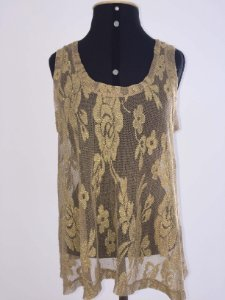 Camiseta fios dourados (M)