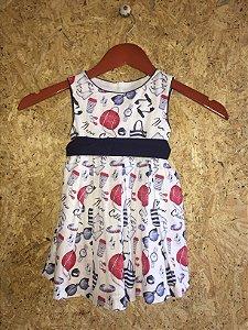 Vestido infantil estampas (2 anos)  - Mayoral
