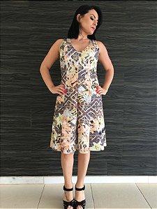 Vestido estampa étnica (P) - Zinzane