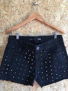 Short black jeans com tachas (38) - Canal