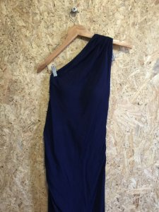 Vestido azul bordado (P) - A. Brand