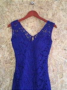 Vestido longo azul renda (P) - Thelure