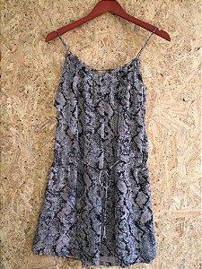 Vestido curto estampa (P) - Canal
