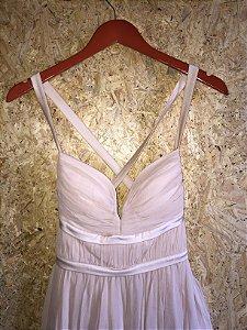 Vestido curto off white (M)