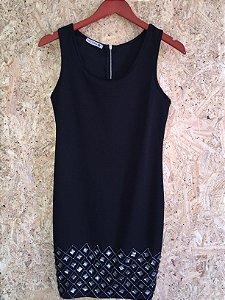 Vestido preto pedrarias (P)